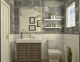#34 cho Half bath interior design in 3d - coastal transitional design style bởi loreliojeda