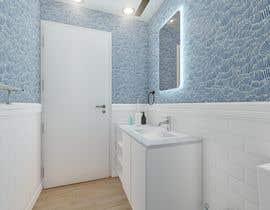 #20 cho Half bath interior design in 3d - coastal transitional design style bởi adelelkadery