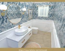 #43 cho Half bath interior design in 3d - coastal transitional design style bởi rabisottou