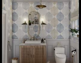 #31 cho Half bath interior design in 3d - coastal transitional design style bởi aliarchviz96