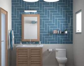 #23 cho Half bath interior design in 3d - coastal transitional design style bởi MatiasFontecilla