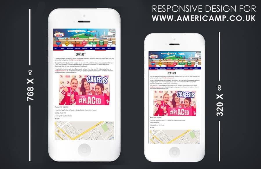 Contest Entry #                                        19                                      for                                         Design a Website Mockup for Responsive version of EXISTING WEBSITE -- 2