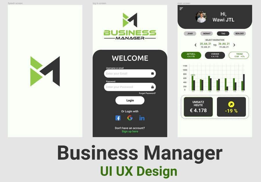 Bài tham dự cuộc thi #                                        30                                      cho                                         UI & UX Custom Design for App (Business Manager ERP System)