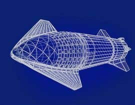 #57 for Blue Print design of Space X Starship Rocket af Akshat1219