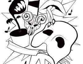 #18 untuk Neo Traditional, Musical Themed Tattoo oleh angelinaart