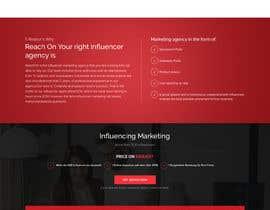 Nro 31 kilpailuun Build new landing page for influencer marketing services käyttäjältä saidesigner87
