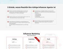 Nro 14 kilpailuun Build new landing page for influencer marketing services käyttäjältä khubaib411
