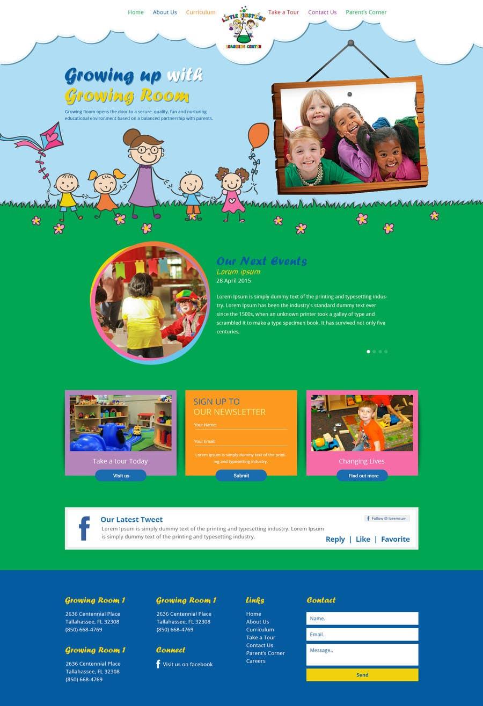 Inscrição nº                                         32                                      do Concurso para                                         Design a Website Mockup for Little Einstein's Learning Center (Daycare)