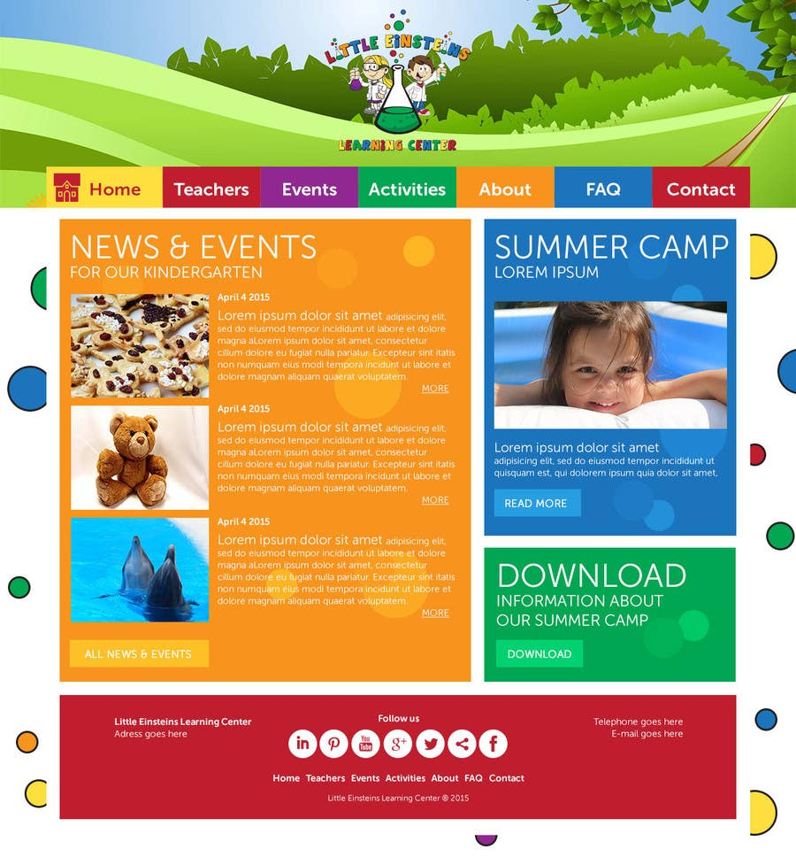 Inscrição nº                                         35                                      do Concurso para                                         Design a Website Mockup for Little Einstein's Learning Center (Daycare)