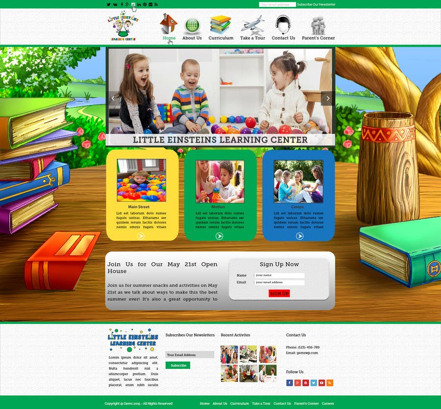 Inscrição nº                                         10                                      do Concurso para                                         Design a Website Mockup for Little Einstein's Learning Center (Daycare)