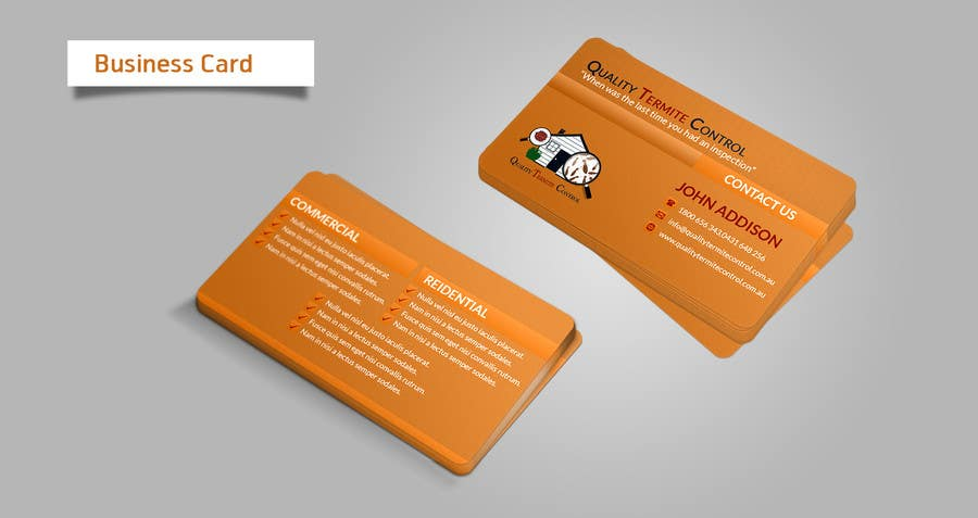 Inscrição nº 16 do Concurso para Design some Business Cards for a Pest Control business