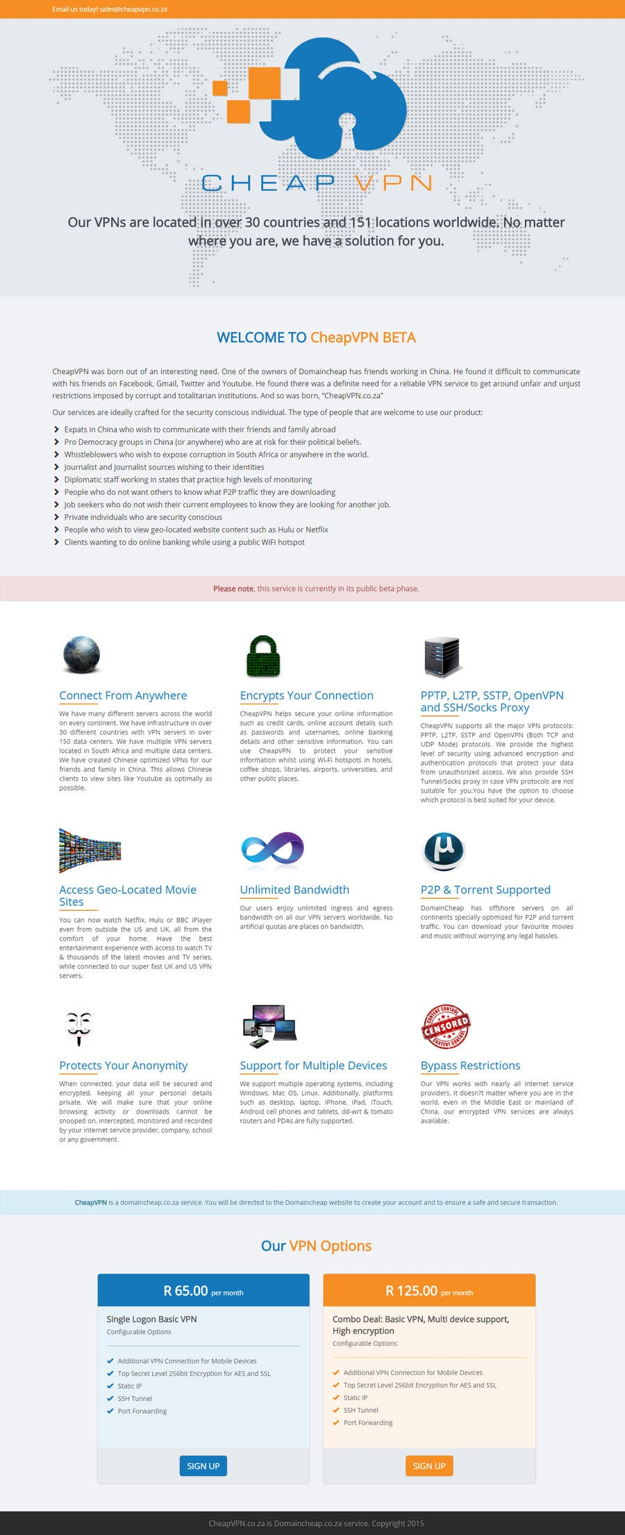 Inscrição nº 8 do Concurso para Create a Wordpress Template for cheapvpn.co.za