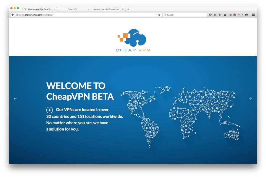 Bài tham dự cuộc thi #13 cho Create a Wordpress Template for cheapvpn.co.za