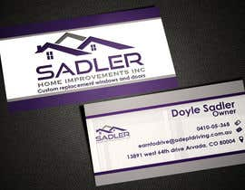 #10 for Design some Business Cards for sadler home improvements af AlexTV