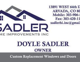#1 cho Design some Business Cards for sadler home improvements bởi kayleyg