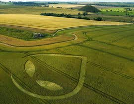 JuliaHunko tarafından PHOTOSHOP!  I need an ALIEN logo photoshopping into a corn field!! için no 70