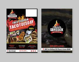 Nro 283 kilpailuun Build me a flyer, buy one get one free coupons.  Three tacos for the price of two.  Taco Tuesday 50%. käyttäjältä mamatapatel380