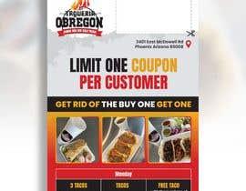 Nro 374 kilpailuun Build me a flyer, buy one get one free coupons.  Three tacos for the price of two.  Taco Tuesday 50%. käyttäjältä hhabibur525
