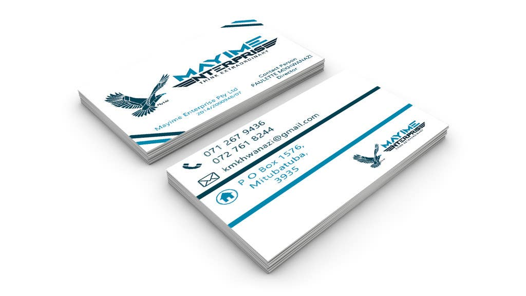 Contest Entry #                                        8                                      for                                         Design a business card for a holding company