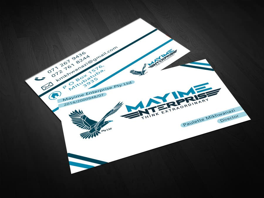 Contest Entry #                                        14                                      for                                         Design a business card for a holding company