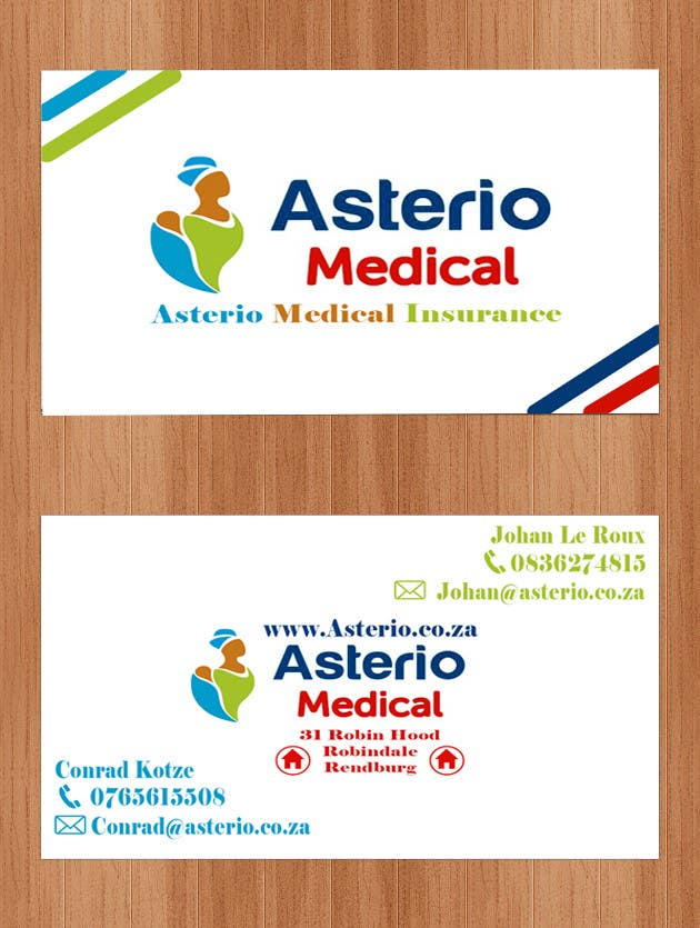 Proposition n°                                        3                                      du concours                                         Design a letterhead and business cards for a medical insurance company