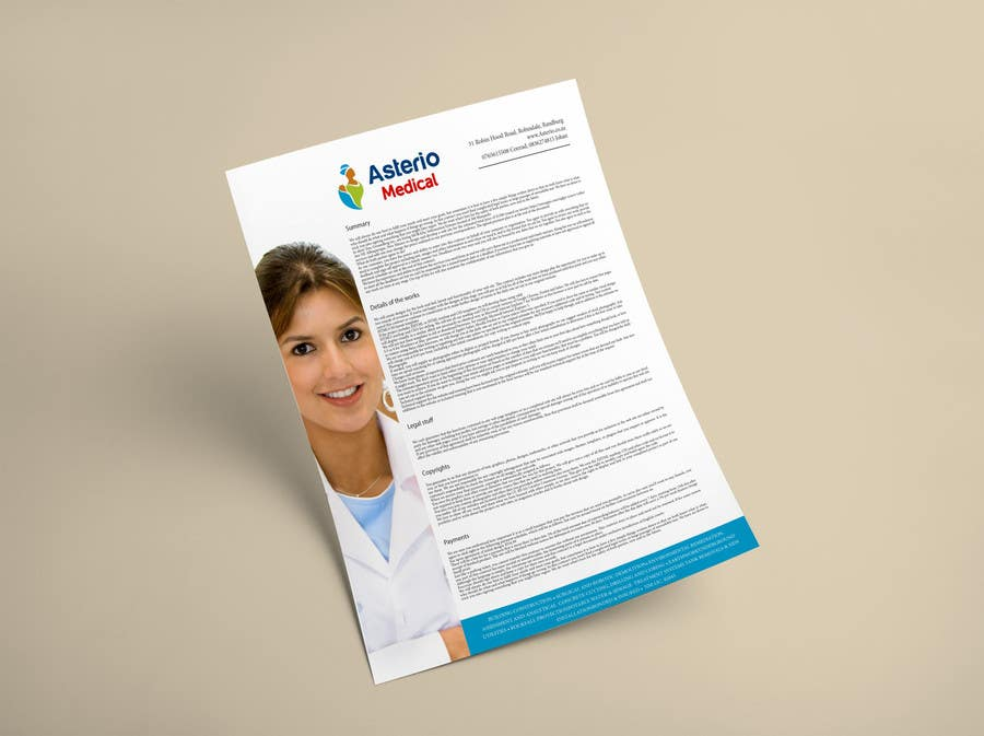 Proposition n°                                        5                                      du concours                                         Design a letterhead and business cards for a medical insurance company