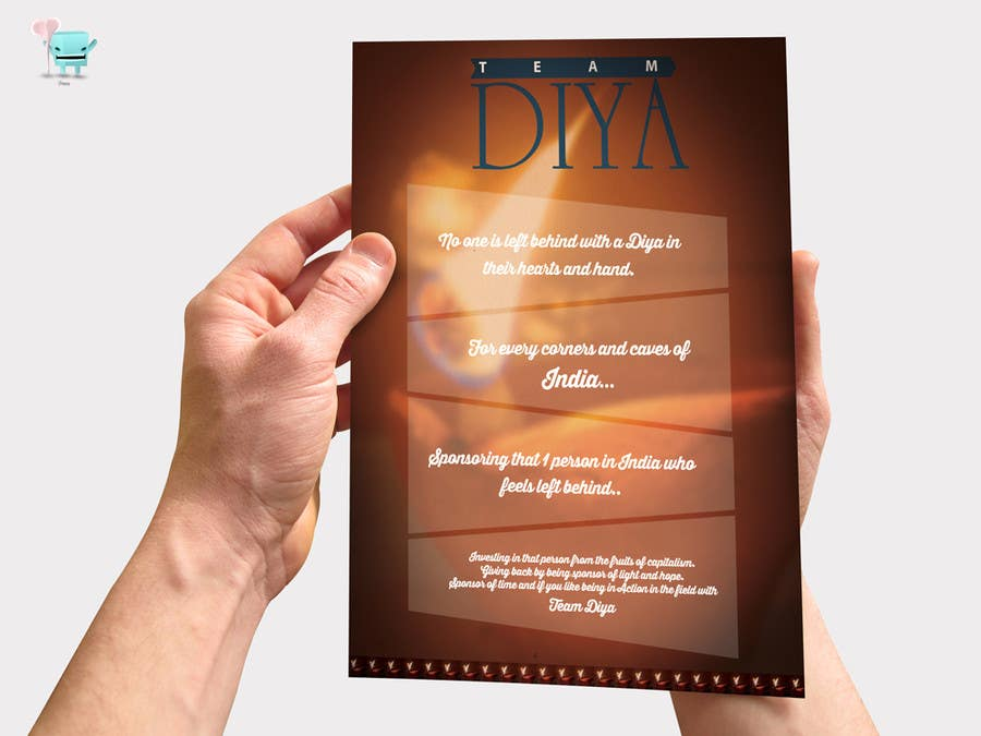 Contest Entry #                                        2                                      for                                         Design a Brochure for Hand Made Diya brochure.