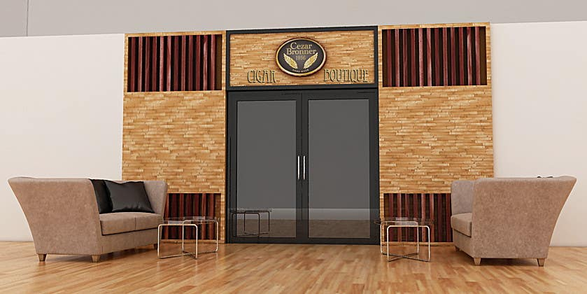 Contest Entry #                                        9                                      for                                         Front face render of a Cigar Lounge.