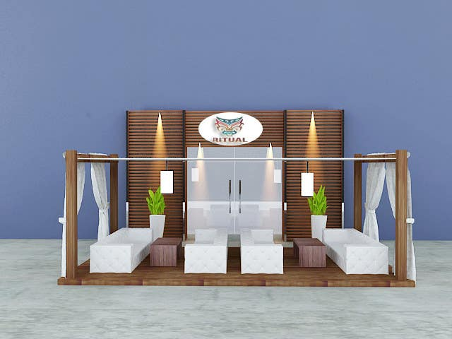 Contest Entry #                                        8                                      for                                         Front face render of a Cigar Lounge.