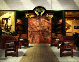 #7 cho Front face render of a Cigar Lounge. bởi peruzzy91