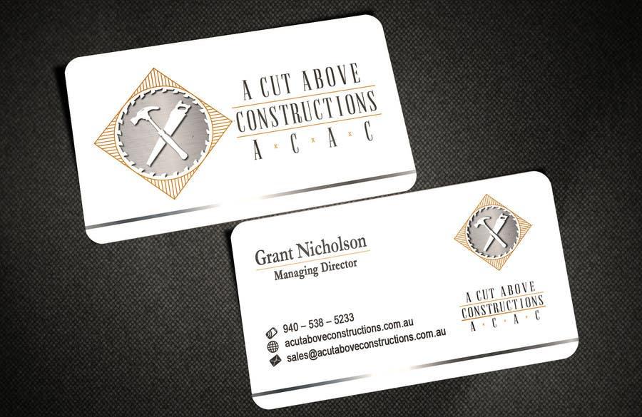 Penyertaan Peraduan #21 untuk Business Card & Renders for A Cut Above Constructions