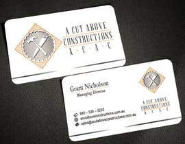 #21 untuk Business Card & Renders for A Cut Above Constructions oleh AlexTV