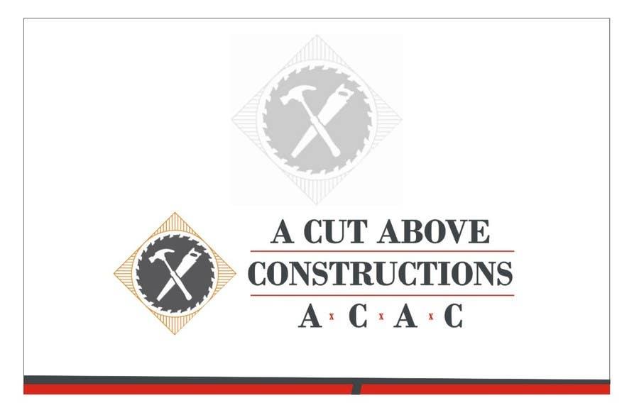 Penyertaan Peraduan #22 untuk Business Card & Renders for A Cut Above Constructions