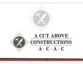 Shrey0017 tarafından Business Card & Renders for A Cut Above Constructions için no 22