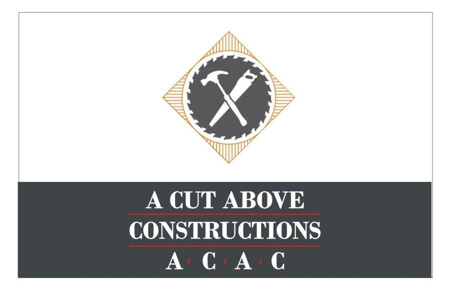 Penyertaan Peraduan #25 untuk Business Card & Renders for A Cut Above Constructions