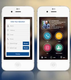 #6 untuk UI/UX Design a Website Mockup for Online Business Cards oleh ankisethiya