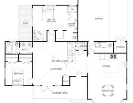 nº 74 pour Redesign  the floor plan of master suite for a better flow par Towhidulshakil