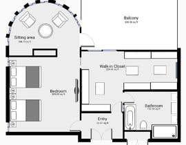 nº 77 pour Redesign  the floor plan of master suite for a better flow par grivangrivan