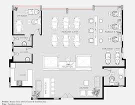 nº 21 pour Beauty Salon interior layout & furniture plan by autocad par MarwaMohammad