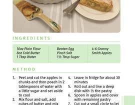 Nro 13 kilpailuun Modern Country Farmhouse style Recipie book - Sample design style of recipie pages käyttäjältä joby4john