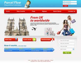 #9 untuk Website Design is needed for a parcel forwarding business in the uk oleh tania06