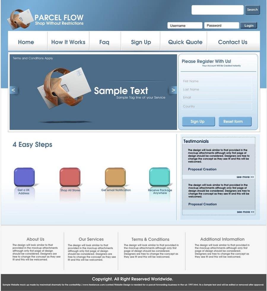 Website Design is needed for a parcel forwarding business in the uk için 7 numaralı Yarışma Girdisi