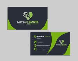 Nro 861 kilpailuun Business Card Design for Hair Company käyttäjältä Useful6923
