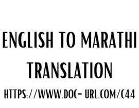 #18 untuk English to Marathi oleh tasali1033