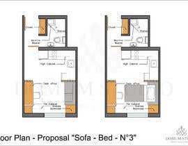 #70 for Floorplan for small studio af DomumStudio