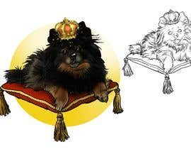 #244 cho Graphic design of a female dog character, with a royalty theme, which will be used as a large graphic on a t-shirt. bởi berragzakariae