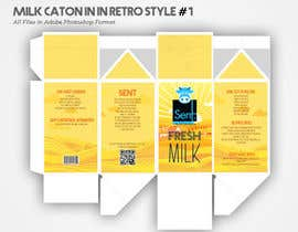 "HasithaCJ tarafından Design a promotional ""about us"" brochure on a milk carton için no 23"