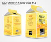 "Design a promotional ""about us"" brochure on a milk carton için Graphic Design27 No.lu Yarışma Girdisi"