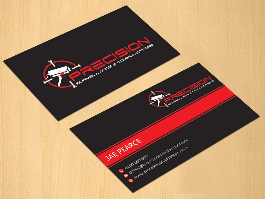 Contest Entry #36 for Design some Business Cards for CCTV installing company