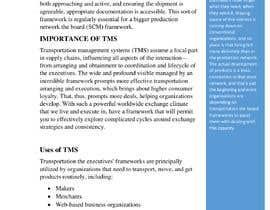 nomi2397asdf tarafından Content Writer for Transportation Management System (TMS) - 20/09/2021 10:44 EDT için no 13
